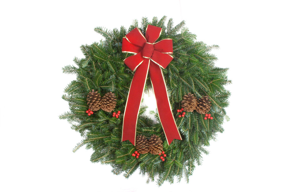 Decorated Fraser Fir Wreaths