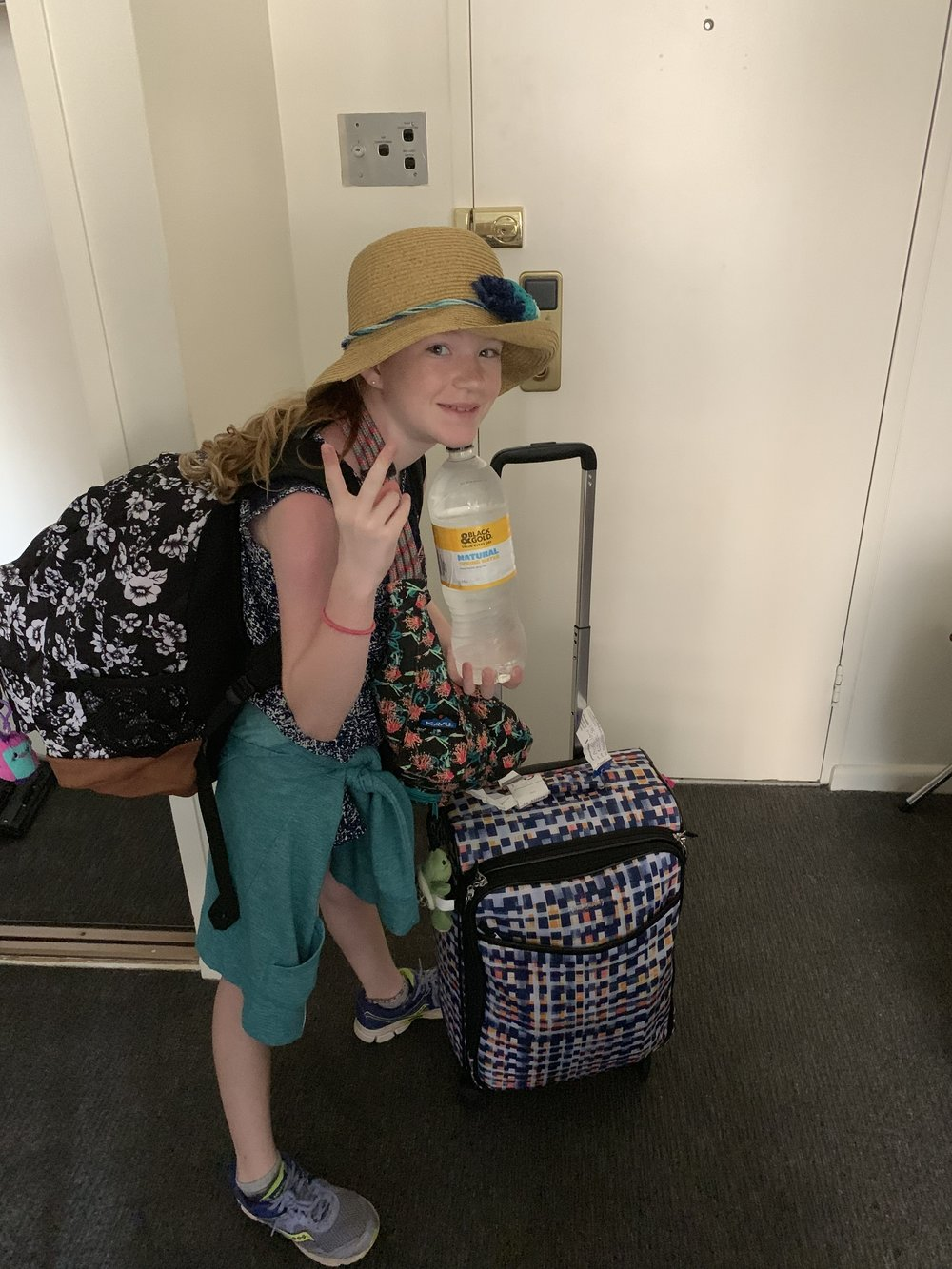 She's got a lot of luggage to carry!!