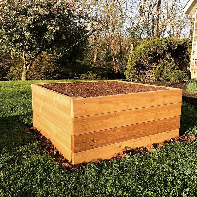 Check out our new 4' x 4' cube raised bed!  All premium cedar!  #certifiedorganic #organic #farmtotable #farm2table #nofo #hamptons #freshleecut #sangleefarms #local #sustainable #homegarden #homegrown