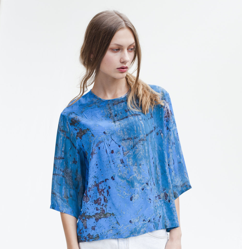 PARTIMI AW13 Nine Stories Top Evening Blue Boat front square.jpg