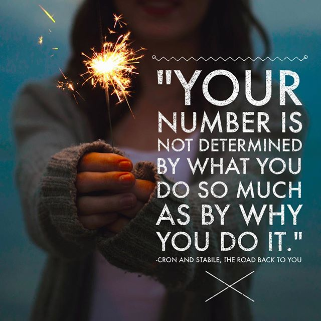 """Your number is not determined by what you do so much as why you do it."" #enneagram #theroadbacktoyou"