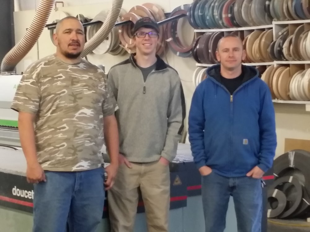 Phil Vigil (Installer), Clay Hess (Installer) and Calvin King (Installation Manager)