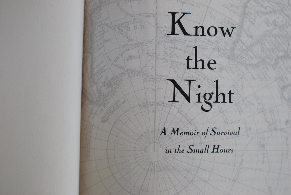 inside Know the Night by Maria Mutch