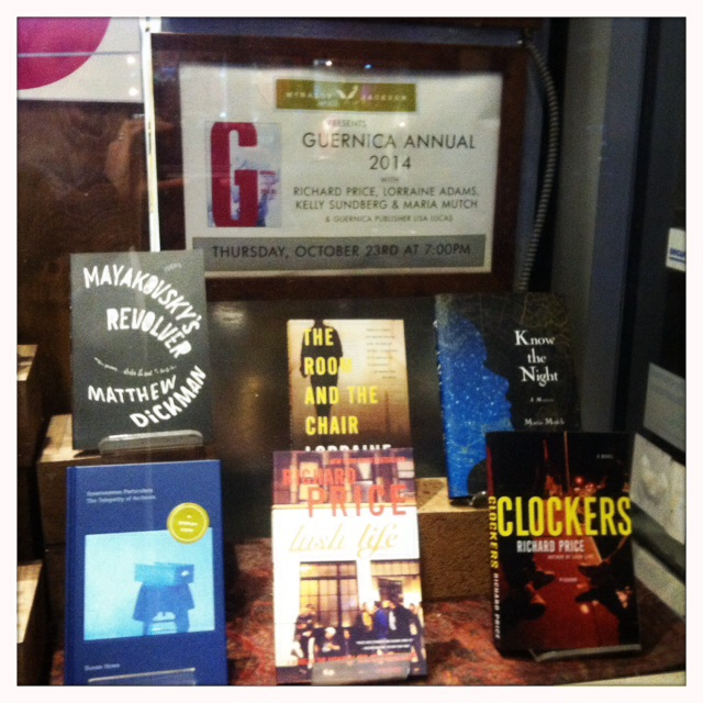 McNally Jackson Books, NYC--the Guernica print launch