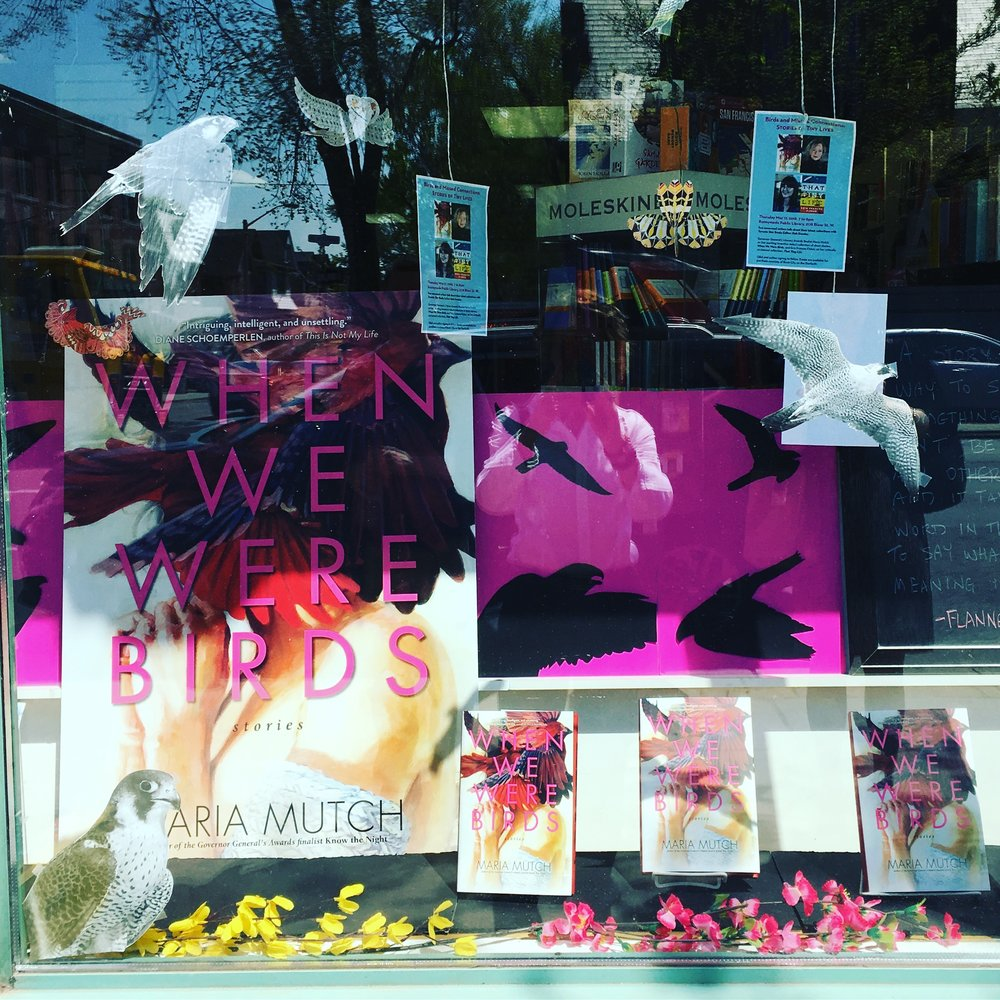 Book City window at the Danforth location