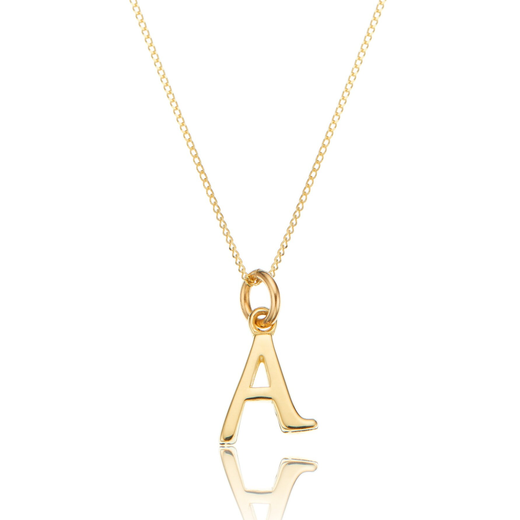 62b0efb7e794c Solid Gold Initial Letter Necklace — Lily & Roo