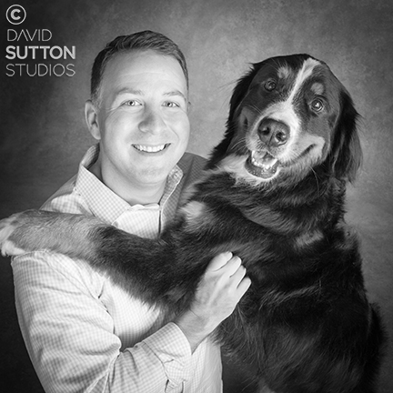Board Member Ben with his Certified Reading Assistance Dog Hank.