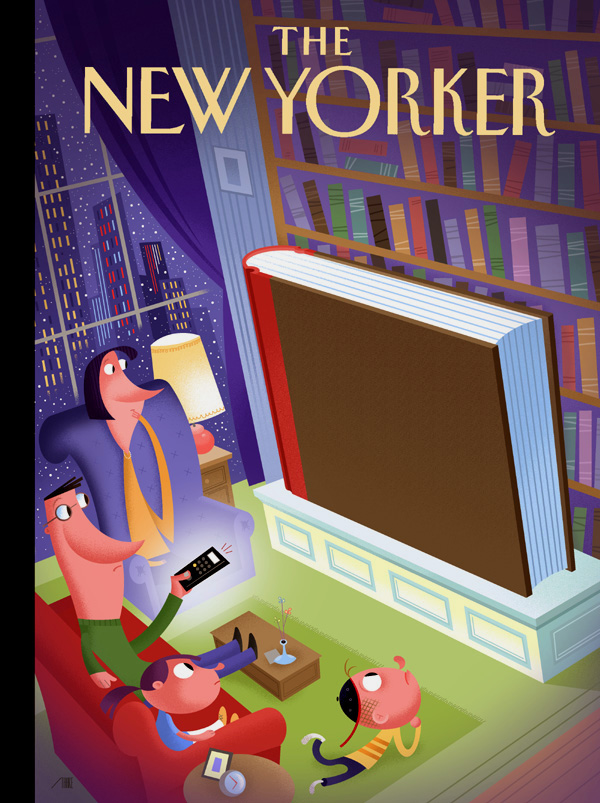 The New Yorker cover art illustrated by Bob Staake.