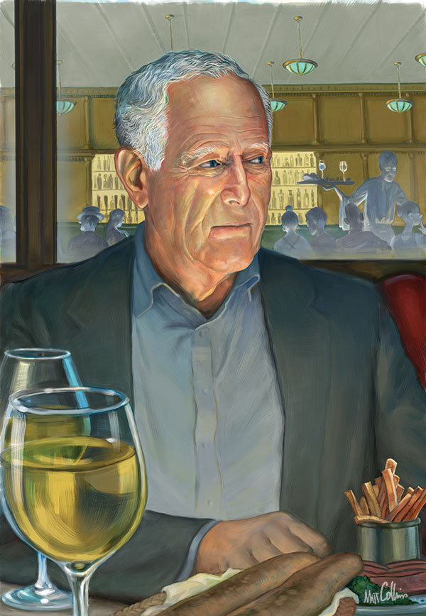 Portrait of James Salter by Matt Collins