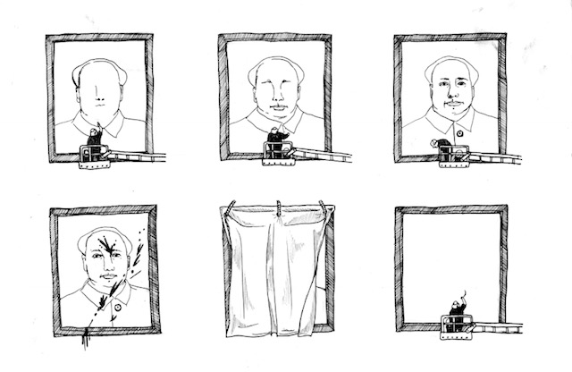 Portraits of Mao