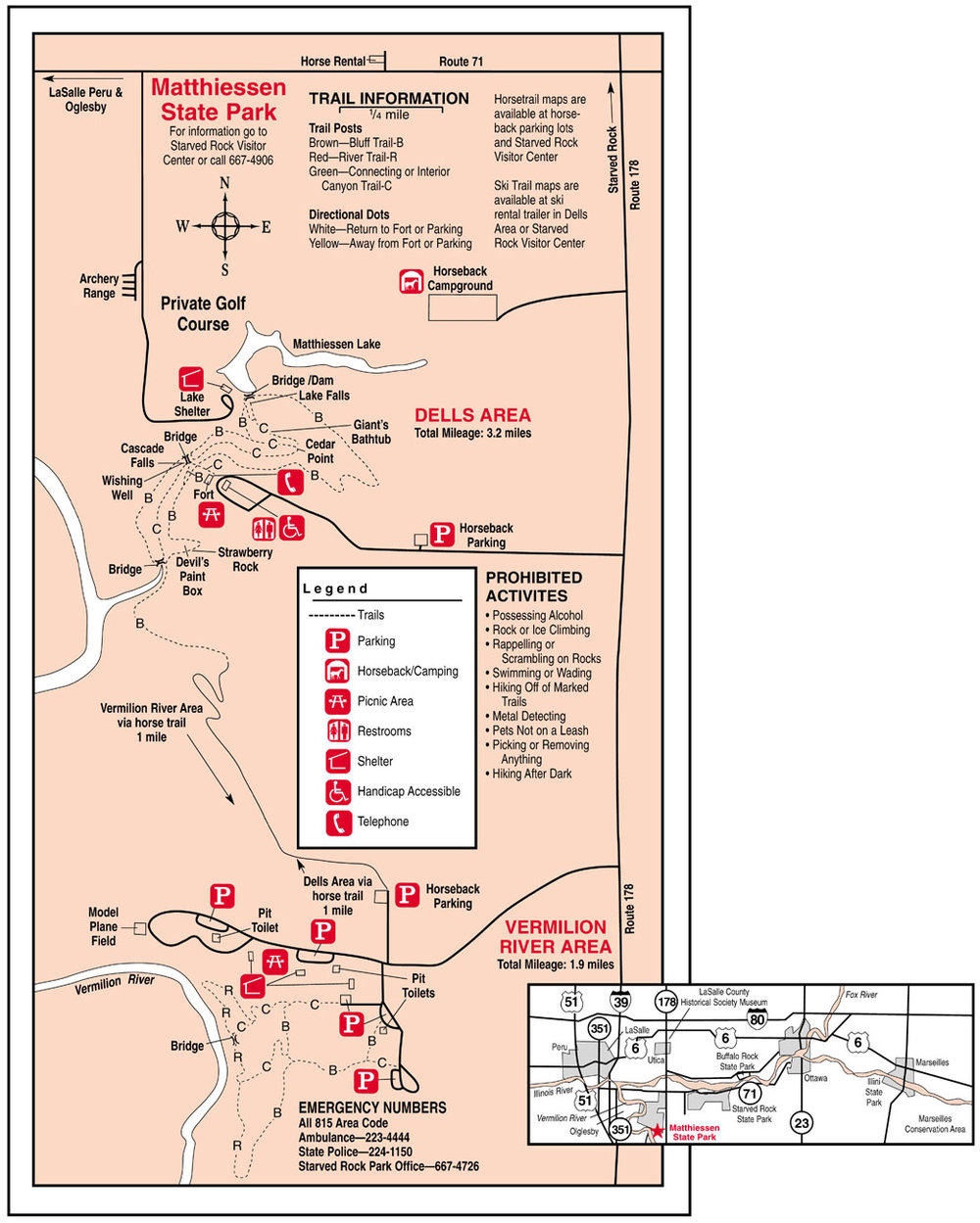 Matthiessen State Park Trail Map