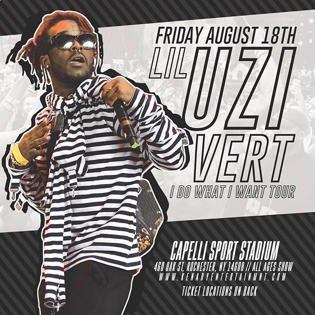 August 18th ☄️ @liluzivert live in Rochester NY