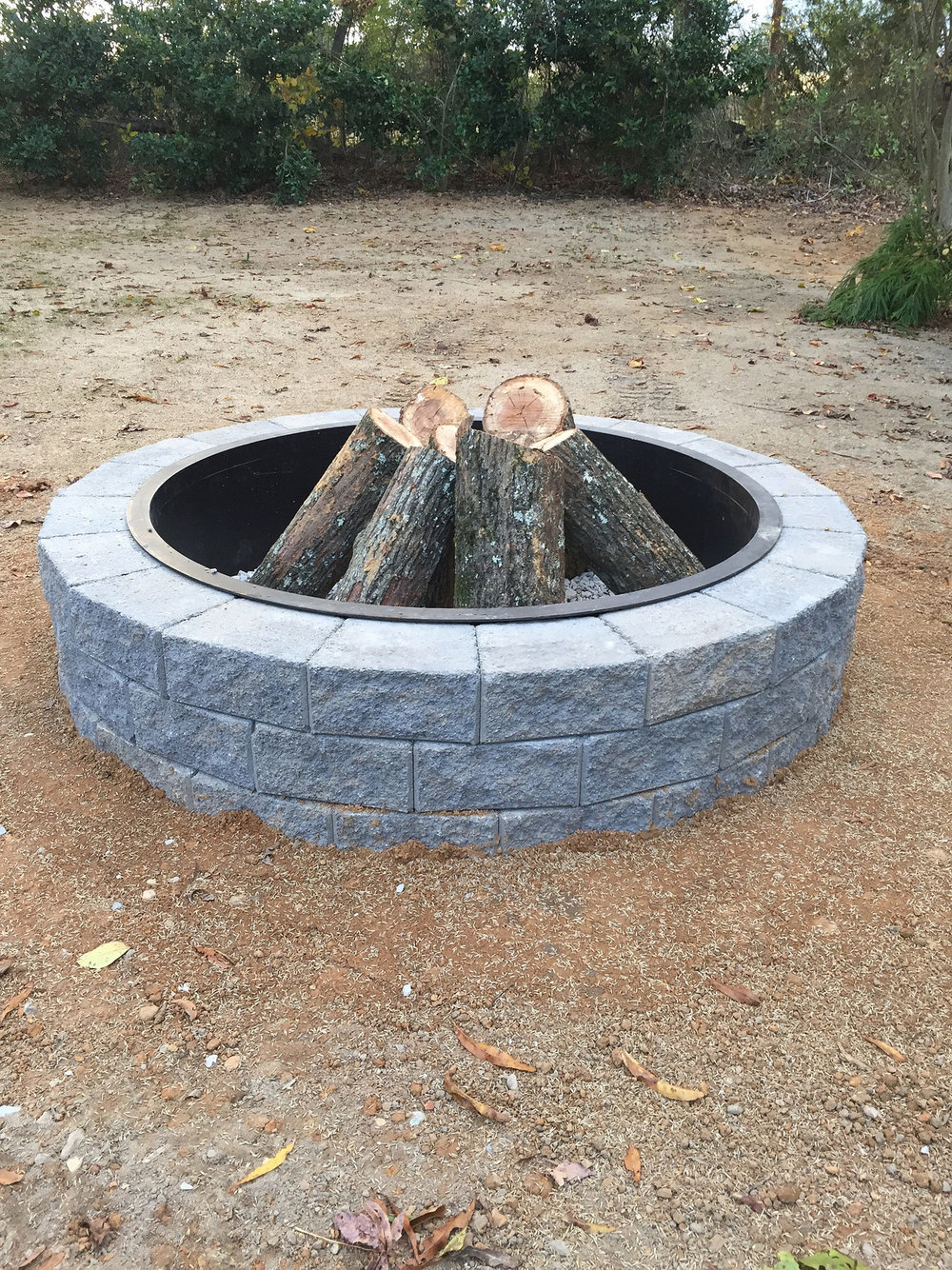 New fire pit.