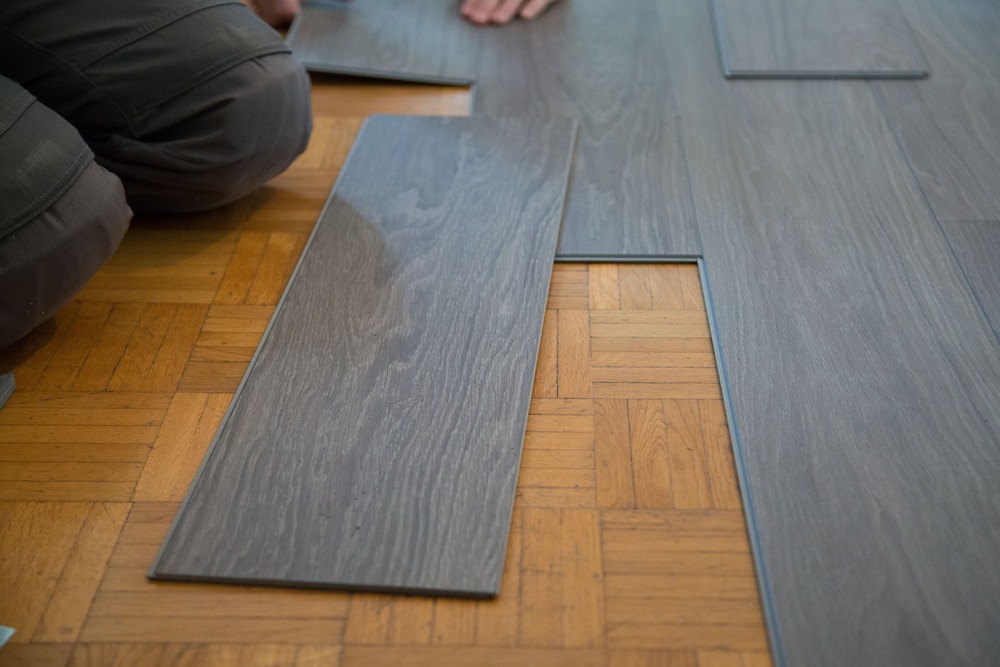Click Lock Vinyl Plank Flooring Installed as a Floating Installation Over Parquet (Medium Size).jpg
