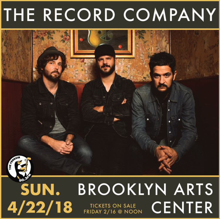 Edward teach brewing co presents the record company with special join is sunday april 22 at the brooklyn arts center for the record company presented by edward teach brewing co doors at 5 pm and show at 6 pm for ccuart Image collections