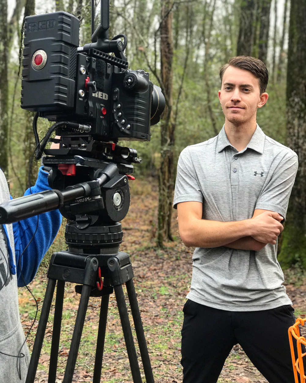 Will Schusterick filming his Disc Golf Instruction series.
