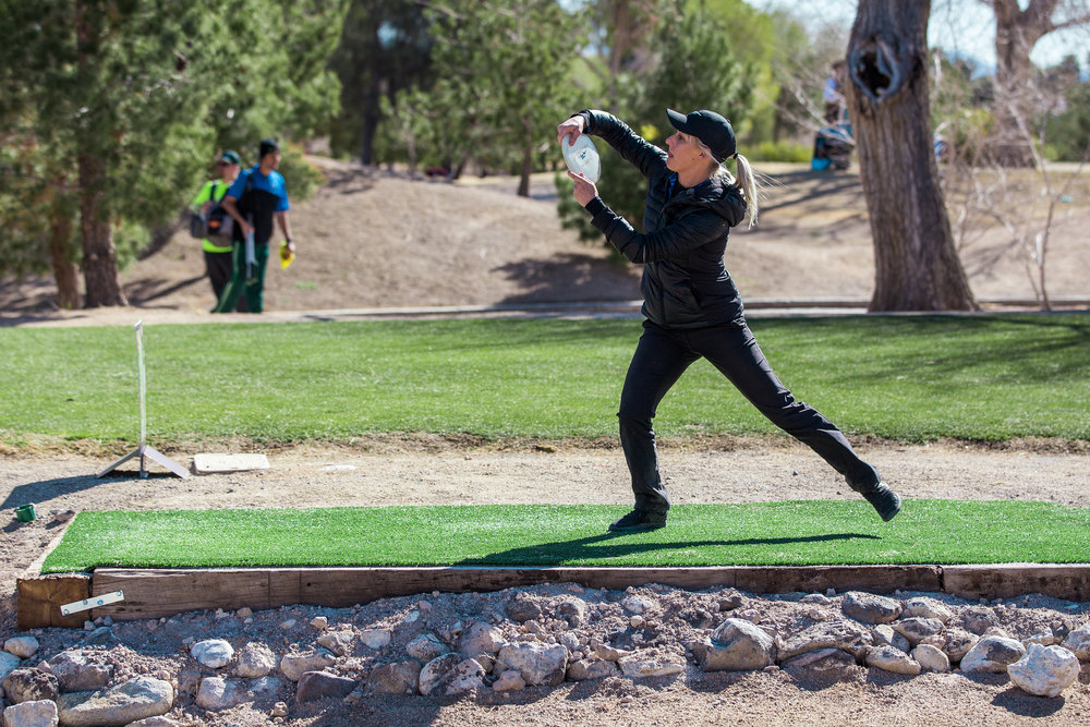 Catrina Allen finishes tied for 2nd amongst a competitive field in Las Vegas  (Photo via PDGA)