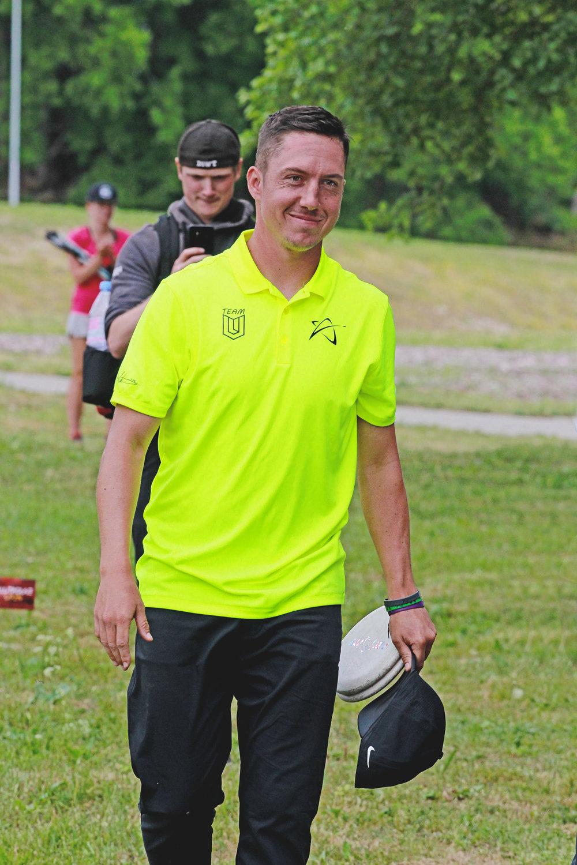 Paul Ulibarri smiling after his first overseas win in Estonia