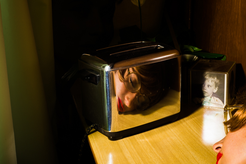 Tania Franco Klein, Toaster, Self Portrait, 2017, Archival pigment print on w/c paper, 40 x 60 inches