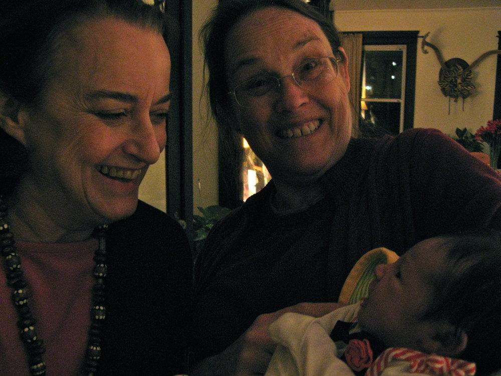 Grandma Beth and Grandma Jan