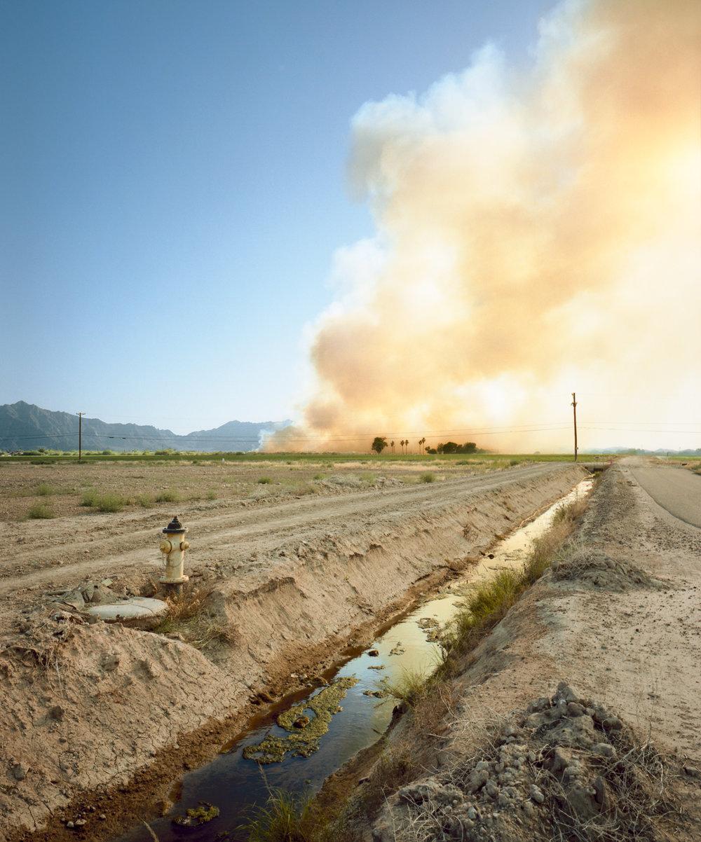 Fire, Laveen, AZ. 2013