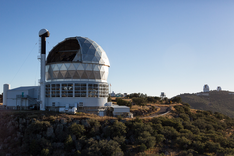 The telescope is the world's third largest of its kind. (Photo courtesy of University of Texas)