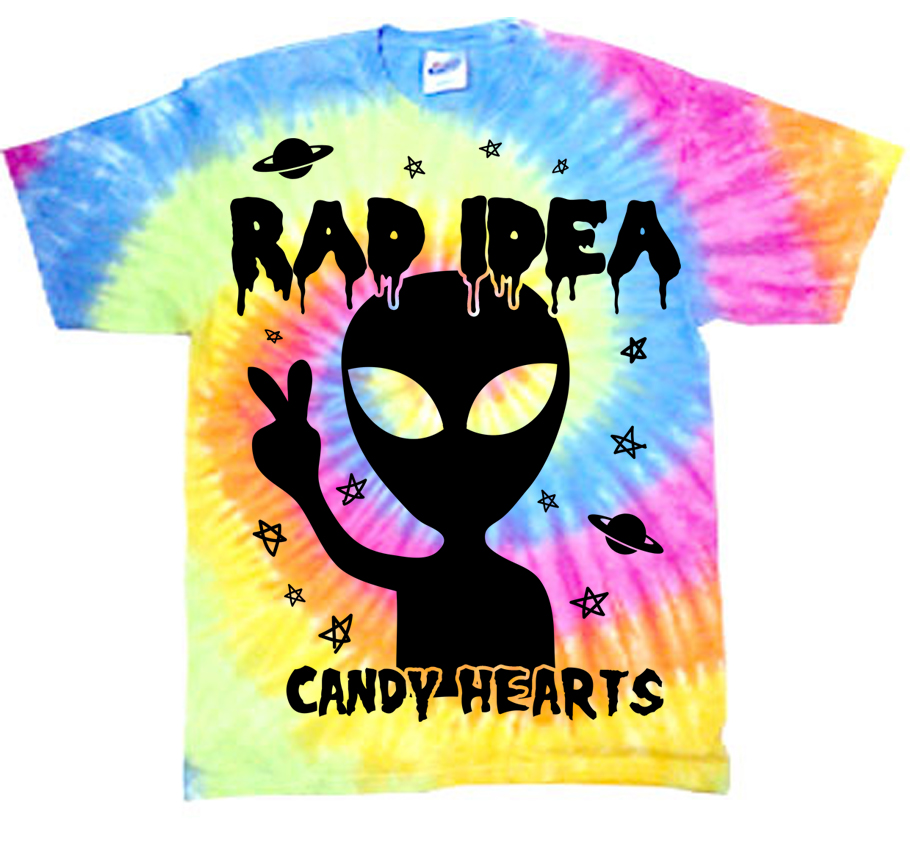 Merchandise like this 'rad idea' shirt from Candy Hearts is common in the pop-punk t-shirt field. (Handout)