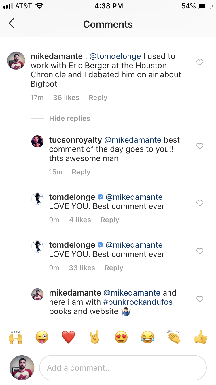 Thanks for the love, Tom.