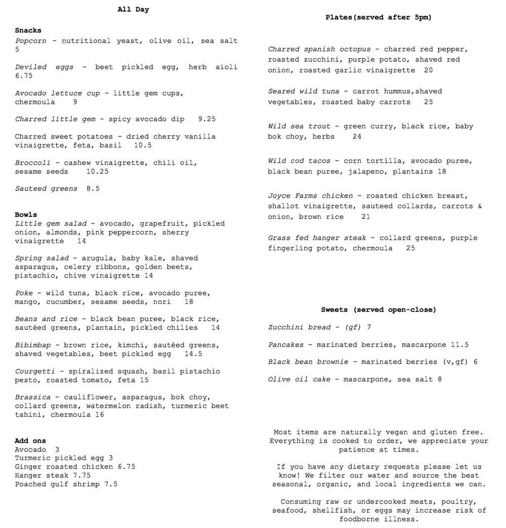 Here's a peek at the delicious Blake Lane menu!