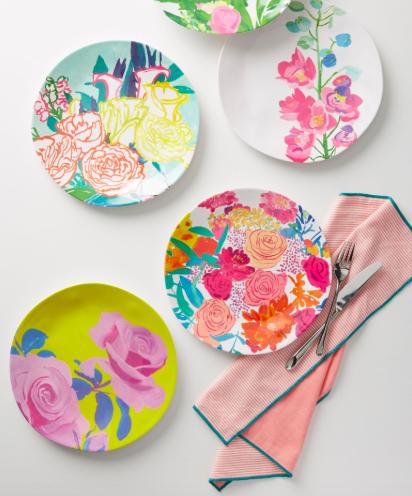Paint + Petals Melamine Plate.png