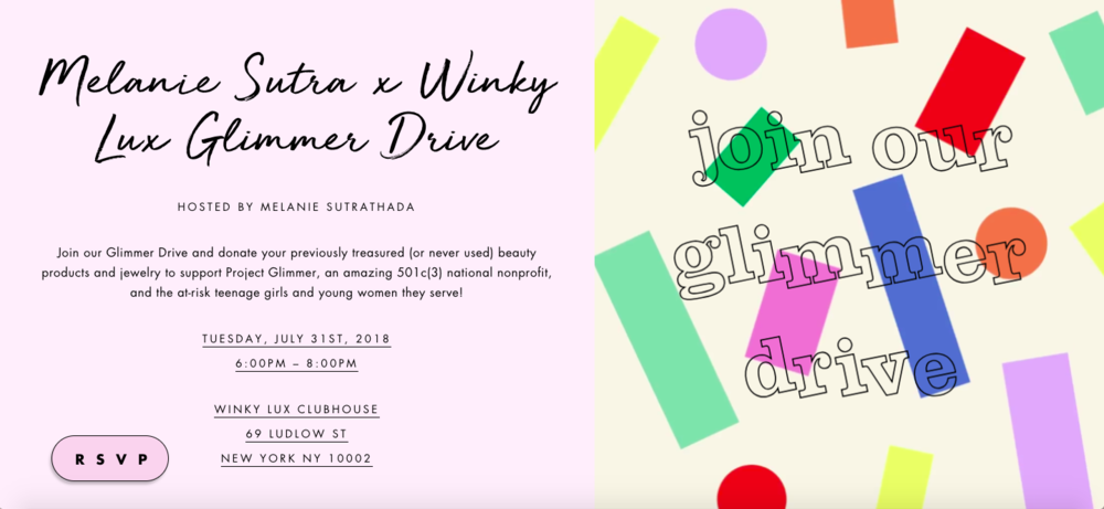 Melanie Sutrathada shares her upcoming Glimmer Drive with Winky Lux..png