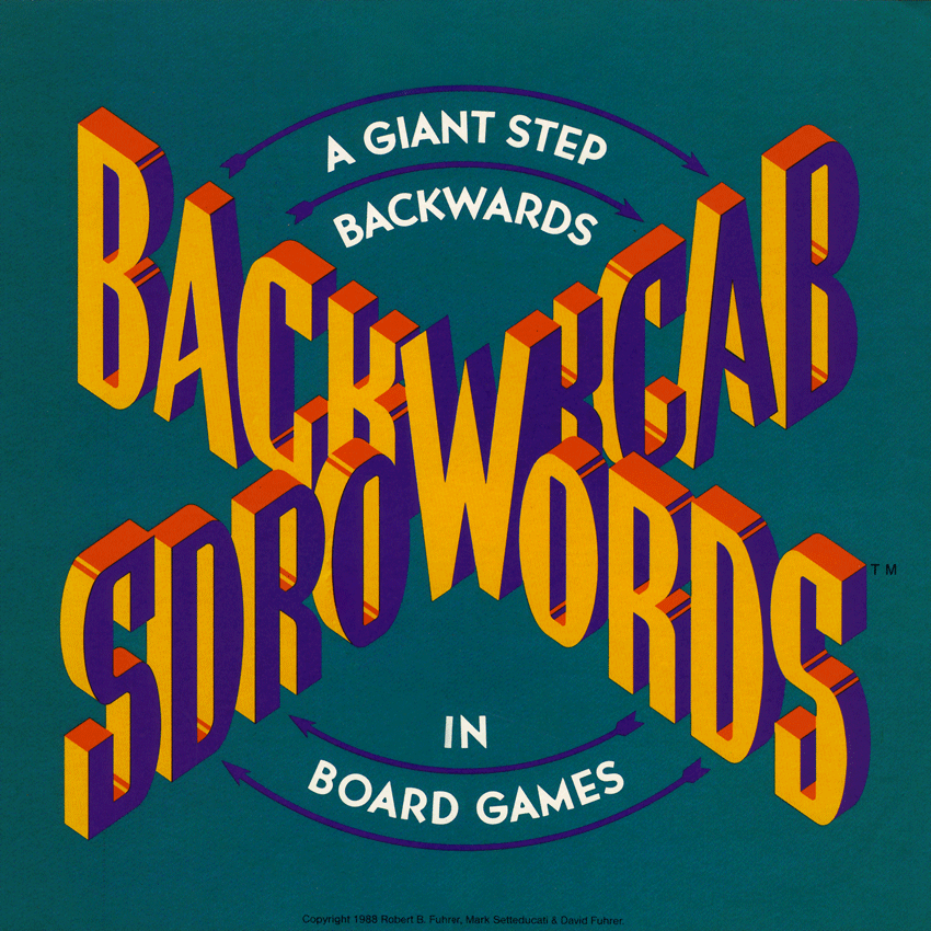 Backwords Board Game