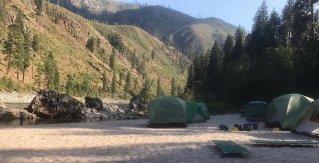 The scene in camp