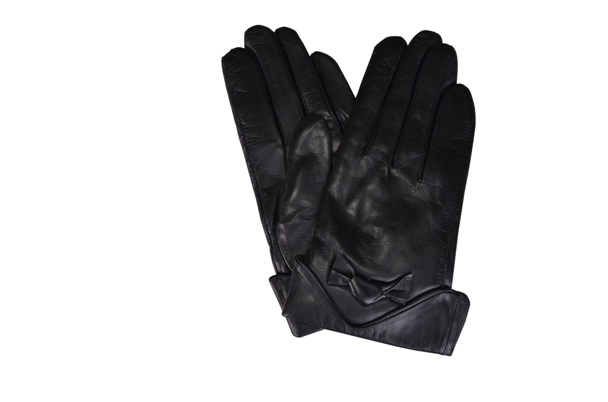 98ce87d79b220 Wool Lined Italian Soft Black Leather Gloves — Bags & Arts