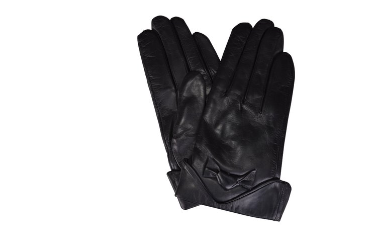 78bfd0498 Wool Lined Italian Soft Black Leather Gloves — Bags & Arts