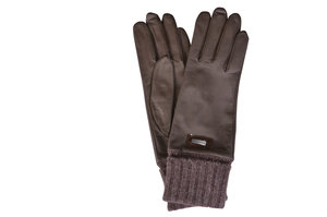 b9b986192 Wool Cuffed Italian Taupe Leather Gloves Italian Taupe Leather Gloves for  Women | Bags & Arts. sale