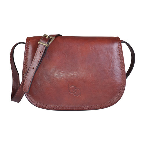 115c75ca262e Genuine Italian Dark Brown Leather Classic Saddle Bag Style — Bags ...