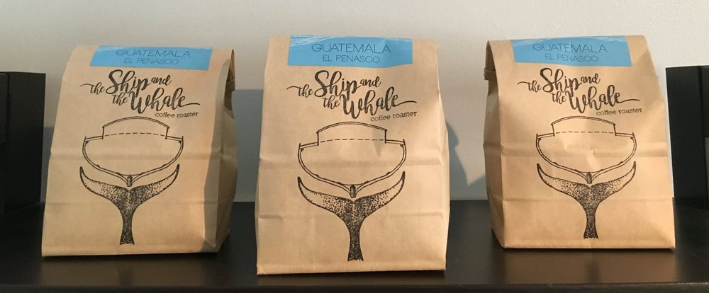 The Ship and the Whale beans roasted locally in Stone Ridge.