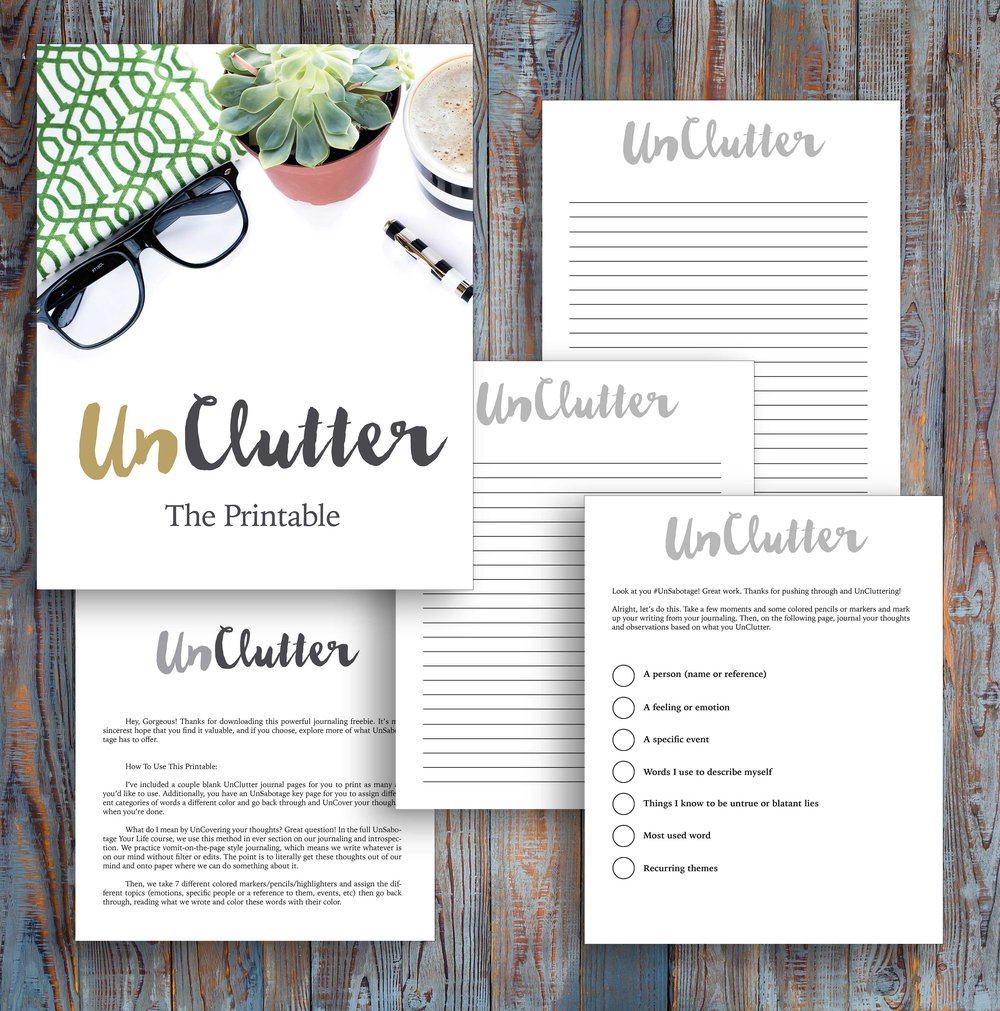 it's time to get your free unclutter printable!