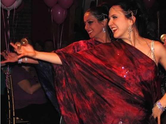 Performing with Aleathia at a birthday party at Karoun Restaurant