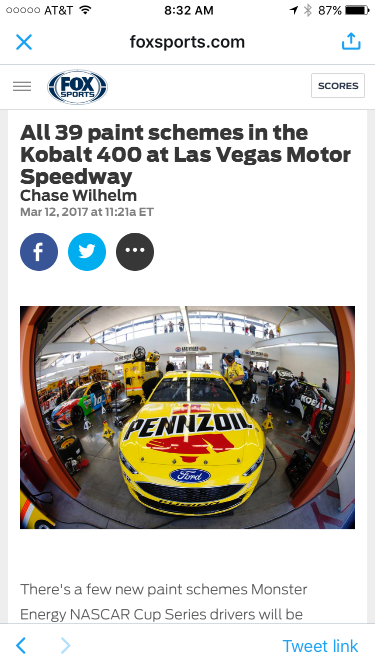 The Pennzoil Paint Scheme made national headlines.
