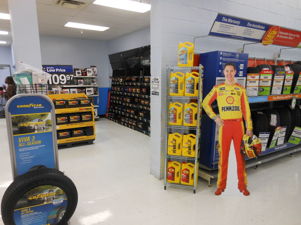 Store #1391 Joey Logano Display