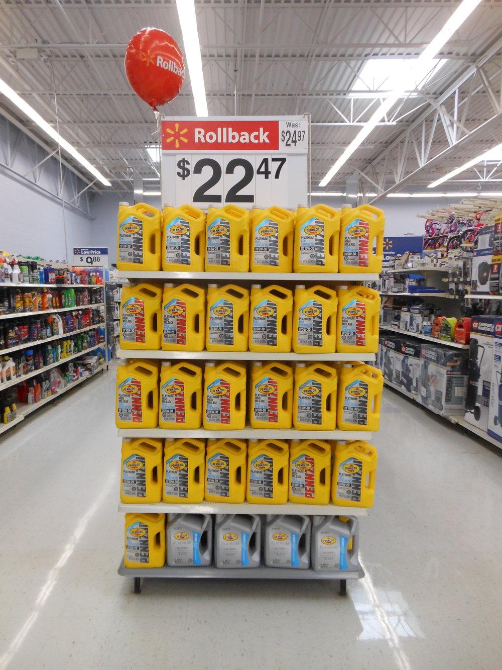 Store #3201 Pennzoil Rollback