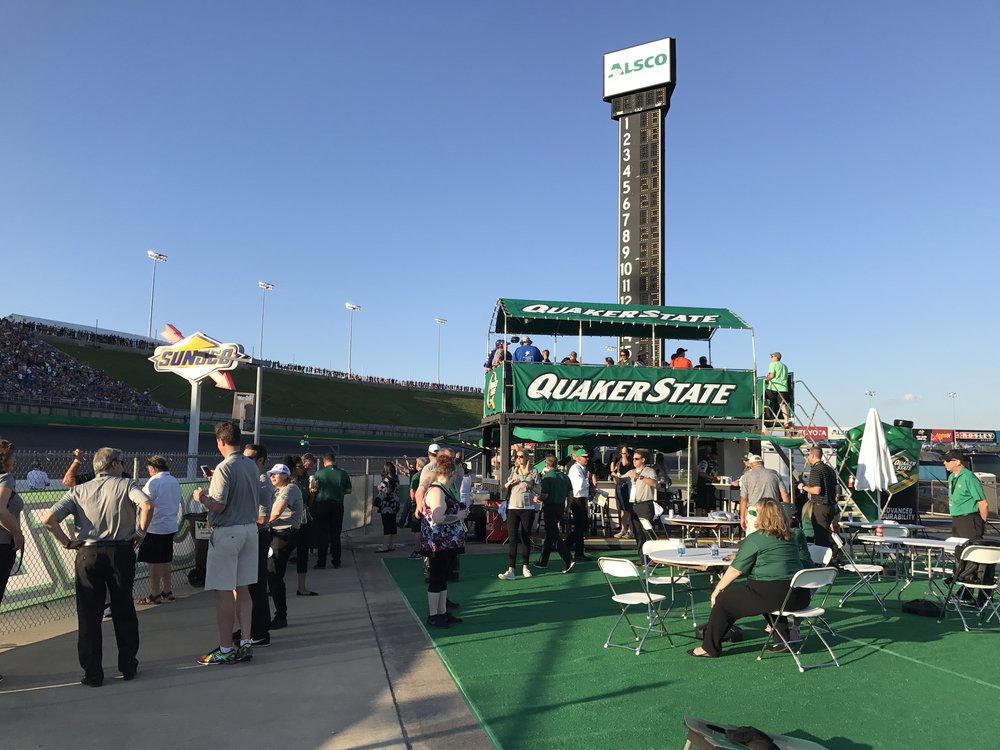 Pit Zero sits right at pit lane entry, for a thrilling viewing experience.