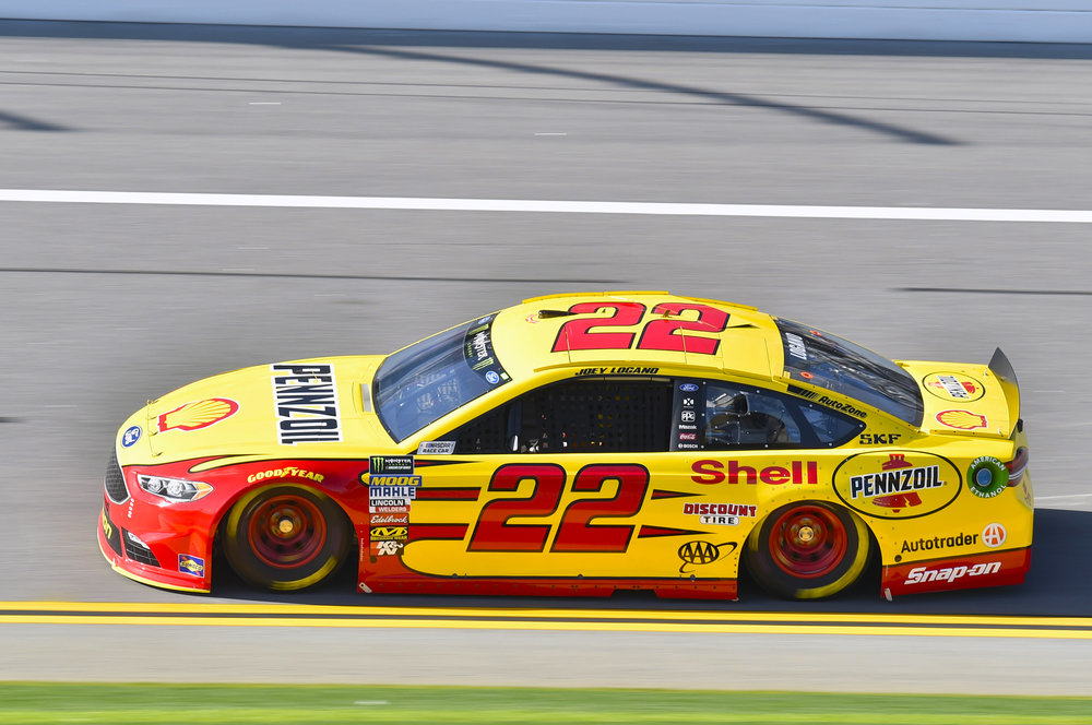 Joey Logano in the #22 Shell-Pennzoil Ford