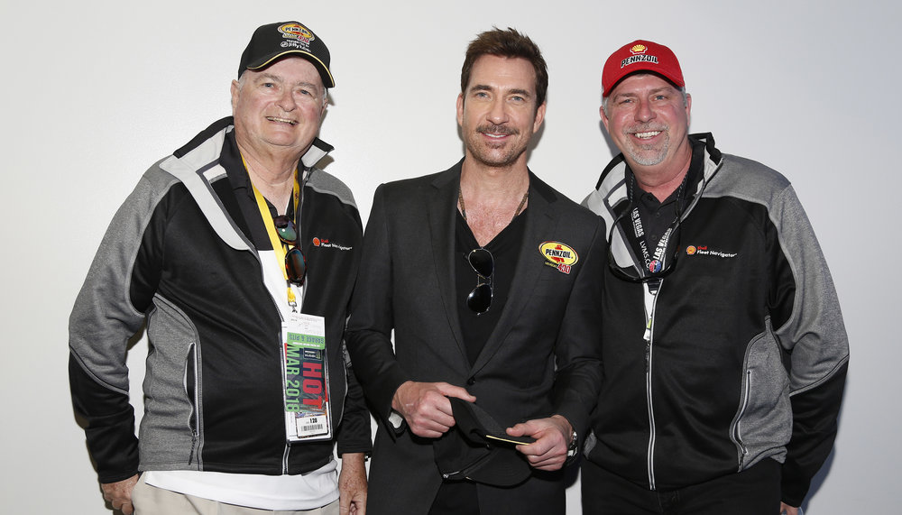 Dylan McDermott meets with guests