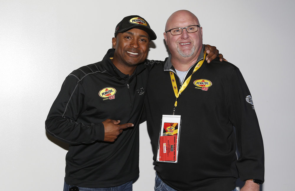 Antron Brown meets with guests