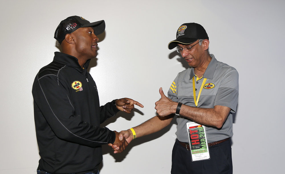 Antron Brown meets with Vatsal Shah