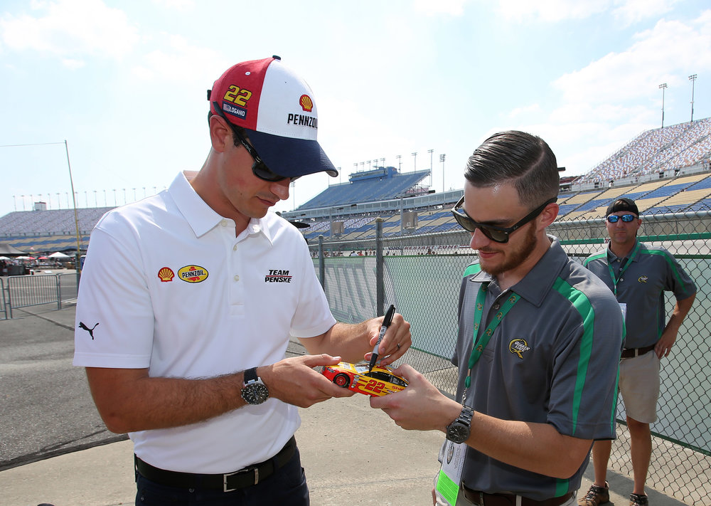 Exclusive meet & greet with Joey Logano.