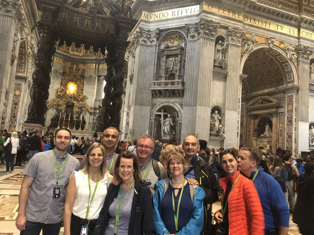 Inside St. Peter's Basilica in the Vatican City.